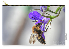 Bee On Purple Flower Carry-all Pouch