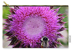 Bee On Thistle Carry-all Pouch