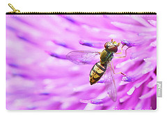 Sweat Bee On Thistle Carry-all Pouch