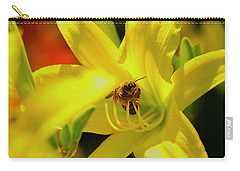 Bee On Yellow Lilly Carry-all Pouch