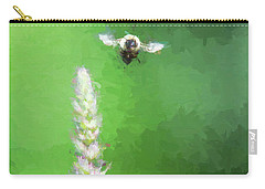Bee Over Flowers Carry-all Pouch