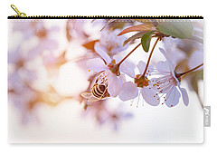 Bee Pollinates Spring Cherry Carry-all Pouch