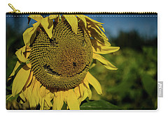 Bee Smiling Sunflowers Carry-all Pouch