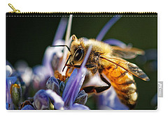 Bee Visits Rosemary  Carry-all Pouch
