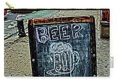 Beer Sign Carry-all Pouch by Sandy Moulder