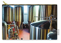 Carry-all Pouch featuring the photograph Beer Vats by Linda Unger