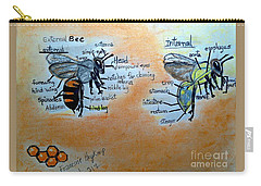 Bees  Carry-all Pouch by Francine Heykoop