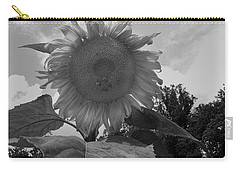 Carry-all Pouch featuring the digital art Bees On A Sunflower by Chris Flees