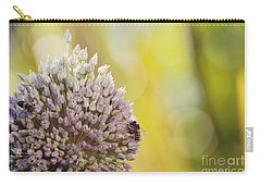 Bees On Garlic Blossom Carry-all Pouch