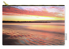 Before Sunrise At First Beach Carry-all Pouch by Roupen  Baker