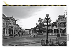 Before The Gates Open Black And White Magic Kingdom Walt Disney World Mp Carry-all Pouch