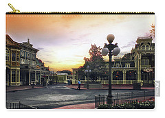 Before The Gates Open Magic Kingdom Walt Disney World Mp Carry-all Pouch