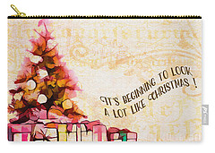 Carry-all Pouch featuring the digital art Beginning To Look Like Christmas Card 2017 by Kathryn Strick