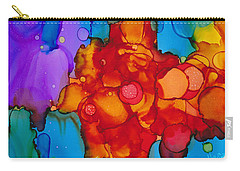 Carry-all Pouch featuring the painting Beginnings Abstract by Nikki Marie Smith