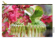 Carry-all Pouch featuring the photograph Begonia Art by John Rivera