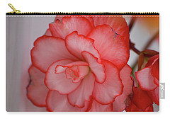 Carry-all Pouch featuring the photograph Begonia Beauty by Lora Lee Chapman