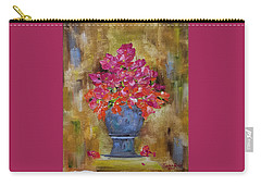 Carry-all Pouch featuring the painting Begonia Justice by Judith Rhue