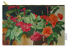 Begonias Flowers Colorful Original Painting Carry-all Pouch