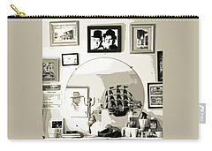 Carry-all Pouch featuring the photograph Behind The Barber Chair by Joe Jake Pratt