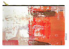 Behind The Corner - Warm Linear Abstract Painting Carry-all Pouch