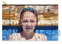 Carry-all Pouch featuring the photograph Behind The Falls by Linda Lees