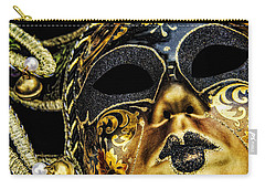 Carry-all Pouch featuring the photograph Behind The Mask by Carolyn Marshall