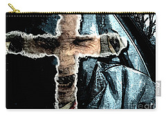 Carry-all Pouch featuring the mixed media Behind The Thin Veil Of The Cross by Reed Novotny