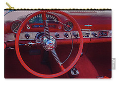 Carry-all Pouch featuring the photograph Behind The Wheel 55 Ford Thunderbird by Trey Foerster