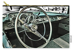 Behind The Wheel Carry-all Pouch by Victor Montgomery