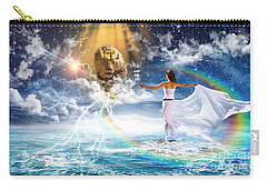Carry-all Pouch featuring the digital art Behold, He Is Coming  by Dolores Develde