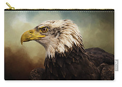 Carry-all Pouch featuring the photograph Being Patient - Eagle Art by Jordan Blackstone