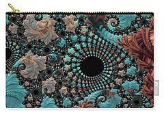 Carry-all Pouch featuring the digital art Bejeweled Fractal by Bonnie Bruno