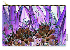 Carry-all Pouch featuring the photograph Bejeweled Succulents by Ellen O'Reilly