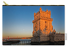 Belem Tower And The Moon Carry-all Pouch