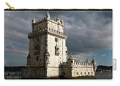 Carry-all Pouch featuring the photograph Belem Tower In Color by Lorraine Devon Wilke