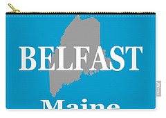 Carry-all Pouch featuring the photograph Belfast Maine State City And Town Pride  by Keith Webber Jr
