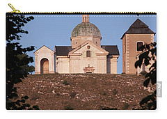 Carry-all Pouch featuring the photograph Belfry And Chapel Of Saint Sebastian by Michal Boubin