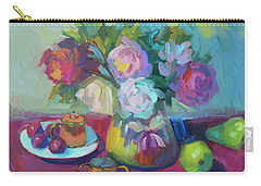 Carry-all Pouch featuring the painting Belgian Creamer And Sugar by Diane McClary