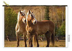 Belgian Draft Horses Carry-all Pouch
