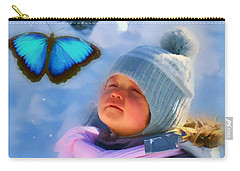 Carry-all Pouch featuring the digital art Believe 2017 by Kathryn Strick