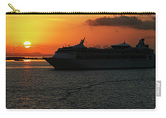 Carry-all Pouch featuring the photograph Belize Sunset by Arthur Dodd