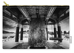 Carry-all Pouch featuring the photograph Bell Of Friendship B W  by Joseph Hollingsworth