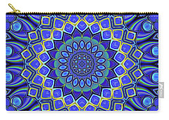Carry-all Pouch featuring the digital art Bella - Blue by Wendy J St Christopher