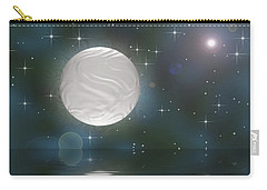 Carry-all Pouch featuring the digital art Bella Luna by Wendy J St Christopher