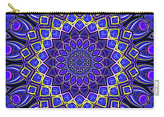 Carry-all Pouch featuring the digital art Bella - Purple by Wendy J St Christopher