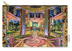 Bellagio Conservatory Fall Peacock Display Gazebo View 2017 Carry-all Pouch