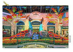 Bellagio Conservatory Fall Peacock Display Panorama 3 To 1 Ratio Carry-all Pouch