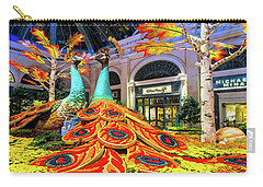 Bellagio Conservatory Fall Peacock Display Side View  Carry-all Pouch