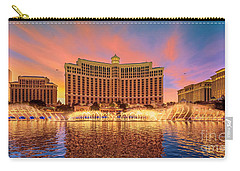 Bellagio Fountains Warm Sunset 2 To 1 Ratio Carry-all Pouch