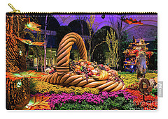 Bellagio Harvest Show Basket And Scarecrow 2016 Carry-all Pouch